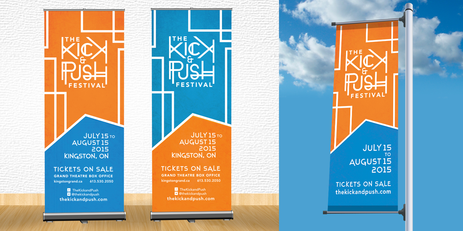 K&P lightpost and banner ads