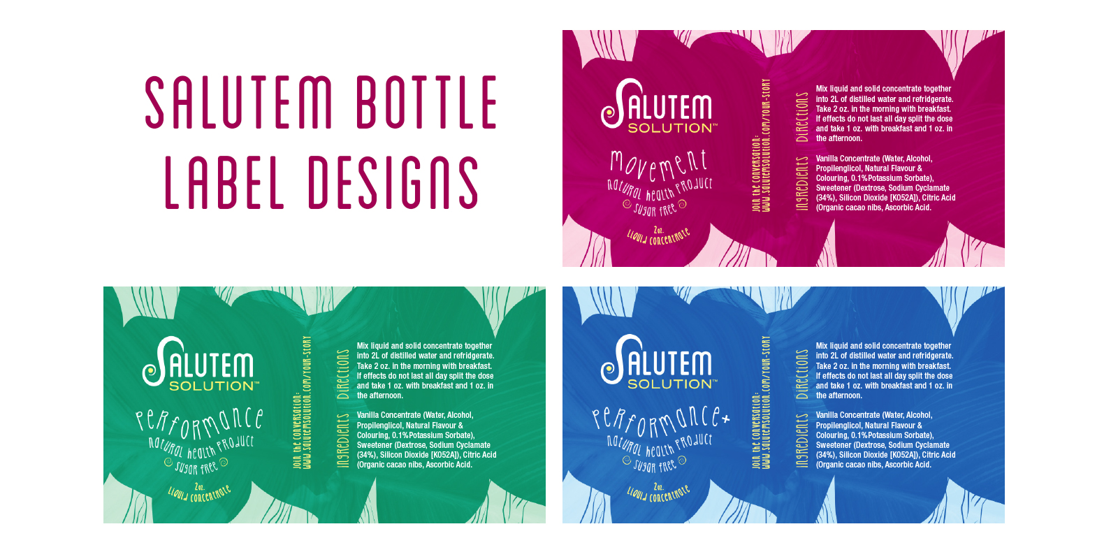 Salutem bottle labels