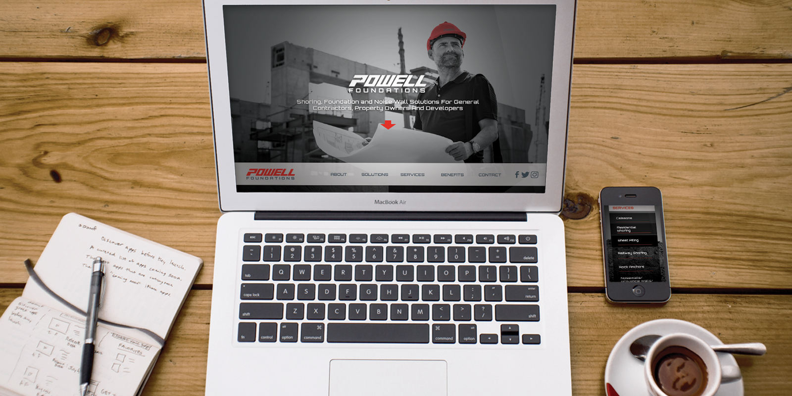 Powell Foundations landing page