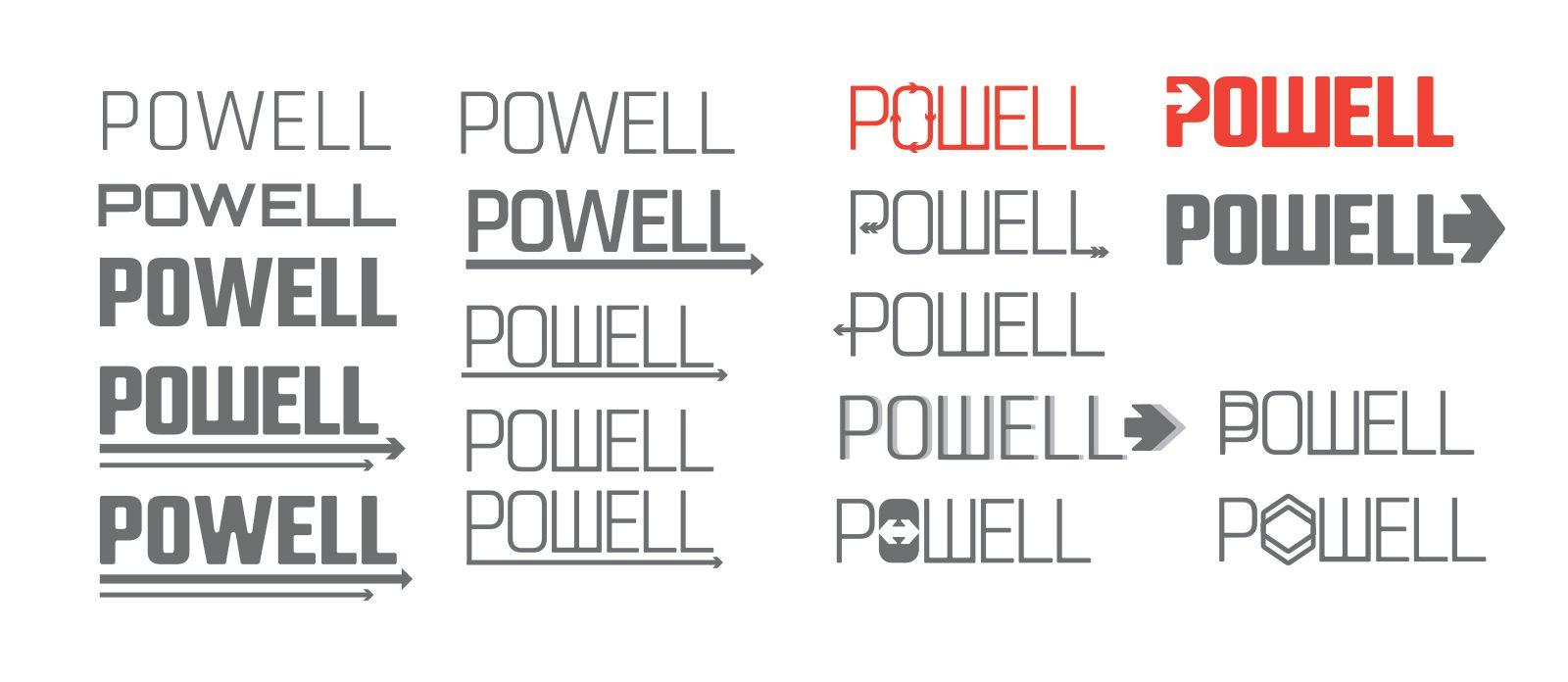 Powell logo mockups
