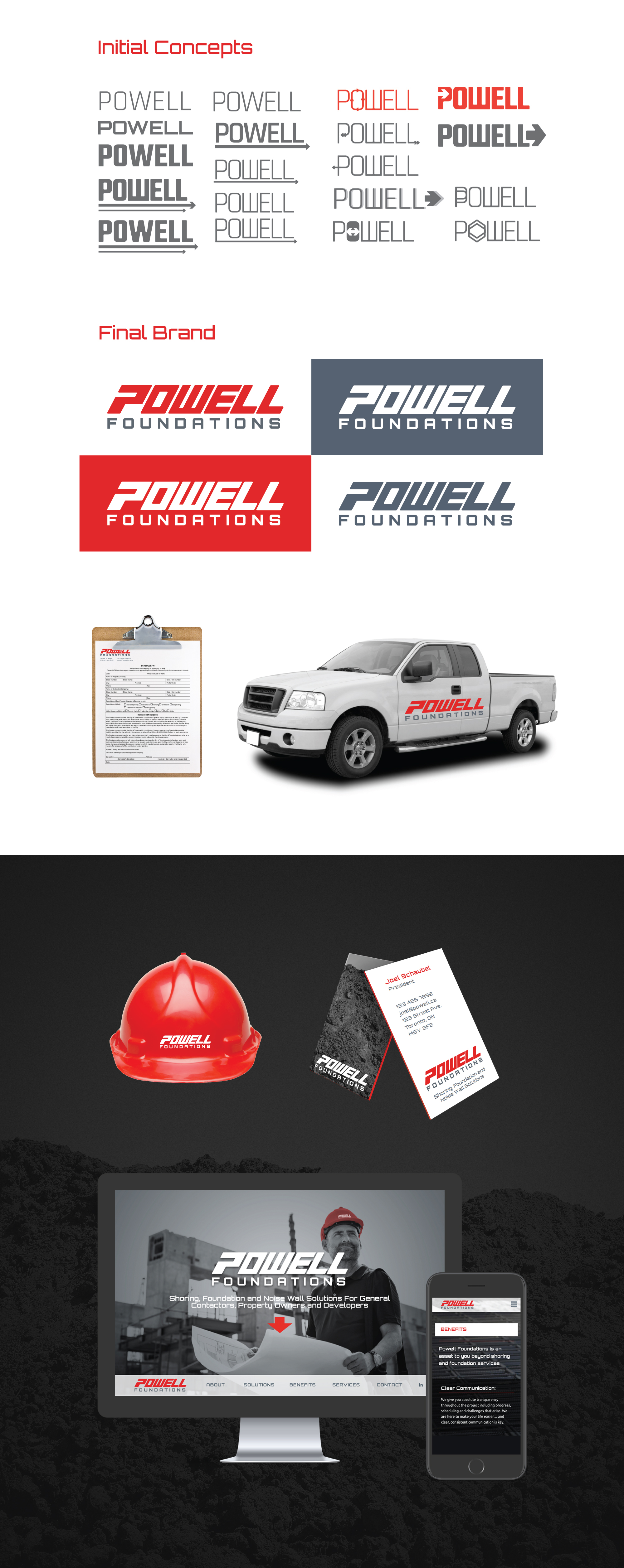 Powell Foundations Branding and Website Design