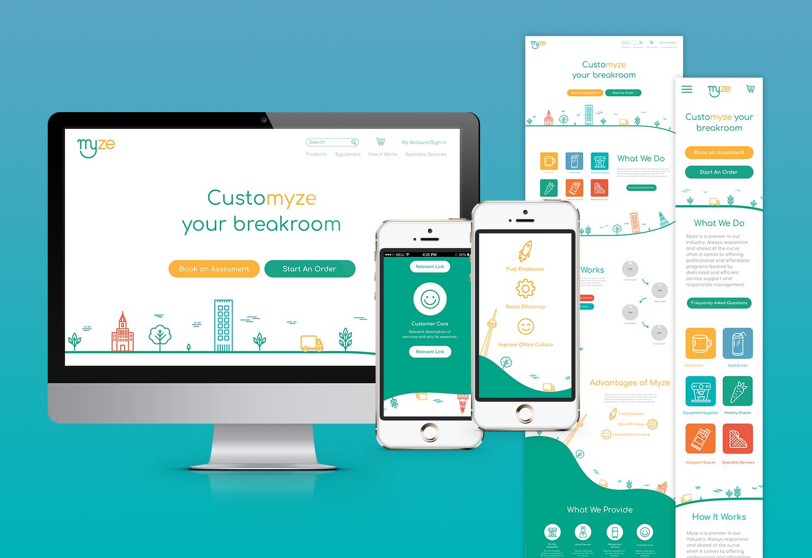Myze Home website design