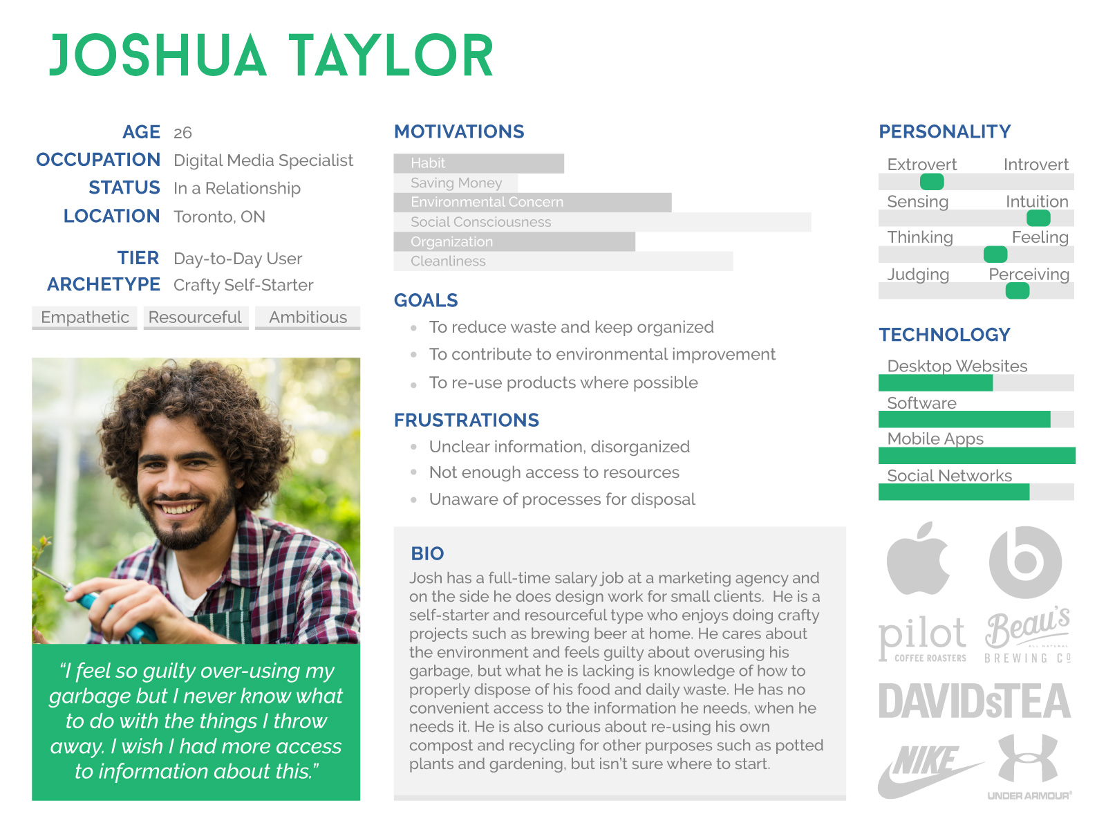 Joshua Taylor Persona