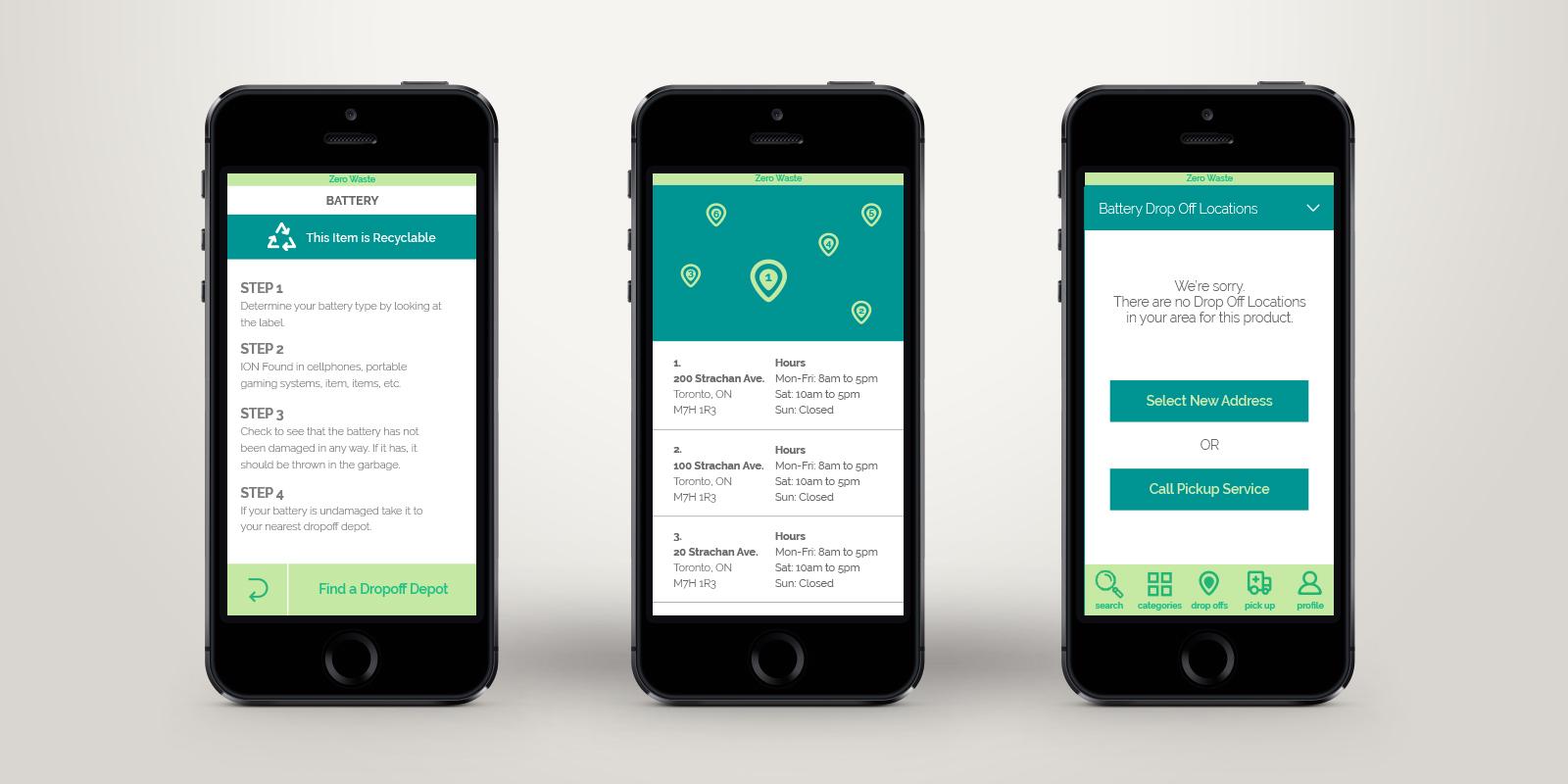 Zero Waste App Designs